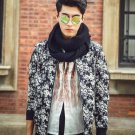 idjewelry cool holiday gift flower fashion Slim casual jacket collar jacket male students NY012