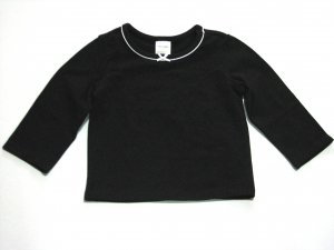 Long Sleeve Bow shirt (black)