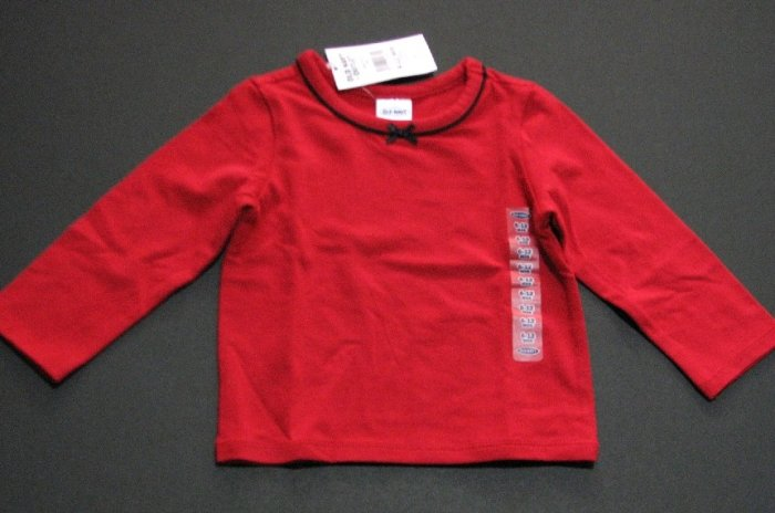 Long Sleeve Bow shirt (red)