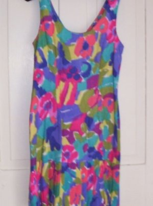 Girls Dawn Joy Hawaiin Print Tunic Sheath Dress 7 - 8 Pleats