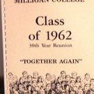 FREE  SHIP Milligan College Class of 1962 30th Reunion Bio Booklet