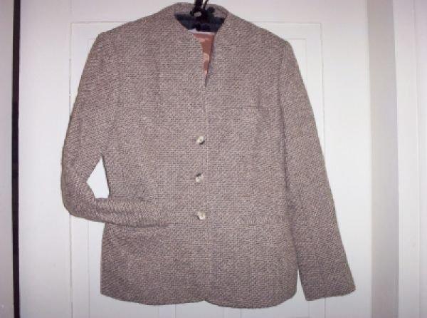 Ladies Vintage EVAN PICONE Boucle Tweed Blazer Jacket 10