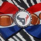 Sporty Bottlecap Bowtie NFL Football Houston Texans Logo Hair Bow ~ Free Shipping