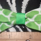 Simply Cute Green Giraffe Animal Print 2.5 x 1 inch Hair Bow Clip Only $3.00 ~ Free Shipping