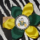 Sporty Bottlecap Flower NCAA Oregon Ducks Hair Bow ~ Free Shipping