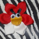 Angry Birds the Red Bird 3 inch Hair Bow  on Lined Alligator Clip