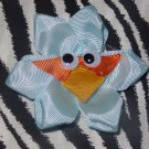 Angry Birds the Blue Bird 3 inch Hair Bow on Lined Alligator Clip