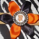 Sporty Bottlecap Flower MLB Baseball San Fransico Giants Logo Hair Bow ~ Free Shipping