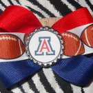 Sporty Bottlecap Bowtie NCAA Arizona Wildcats Logo Hair Bow ~ Free Shipping