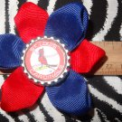 Sporty Bottlecap Flower MLB Baseball St Louis Cardinals Hair Bow ~ Free Shipping