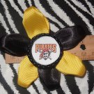 Sporty Bottlecap Flower MLB Baseball Pittsburgh Pirate Hair Bow ~ Free Shipping
