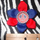 Sporty Bottlecap Flower MLB Baseball Los Angeles Angels Hair Bow ~ Free Shipping