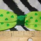 Simply Cute Green Shamrocks 3 x 1 inch Hair Bow Clip ~ Free Shipping