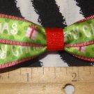 Simply Cute Merry Christmas 3 x 1 inch Hair Bow Clip ~ Free Shipping