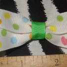 Simply Cute Hearts & Dots 3 x 1 inch Hair Bow Clip Only $3.00 ~ Free Shipping