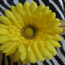 Fab Floral Yellow Large Gerber Daisy Flower Hair Bow on Lined Alligator Clip ~ Free Shipping