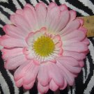 Fab Floral Light Pink Large Gerber Daisy Flower Hair Bow on Lined Alligator Clip ~ Free Shipping