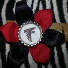 Sporty Bottlecap Flower NFL Football Atlanta Falcons Hair Bow ~ Free Shipping