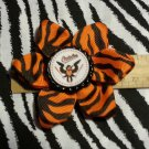 Sporty Bottlecap Flower MLB Baseball Baltimore Orioles Animal Print Hair Bow ~ Free Shipping