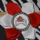 Sporty Bottlecap Flower NCAA Arkansas Razorbacks Hair Bow ~ Free Shipping
