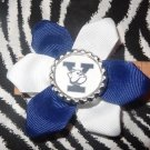 Sporty Bottlecap Flower NCAA Yale Bulldogs Hair Bow ~ Free Shipping