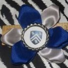 Sporty Bottlecap Flower NCAA Rice University Owls Hair Bow ~ Free Shipping