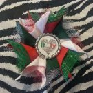 Bottlecap Flower FIFA World Cup Italy Hair Bow ~ Free Shipping