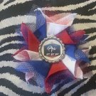 Bottlecap Flower FIFA World Cup France Hair Bow ~ Free Shipping