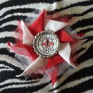 Bottlecap Flower FIFA World Cup England Hair Bow ~ Free Shipping
