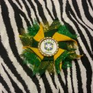 Bottlecap Flower FIFA World Cup Brazil Hair Bow ~ Free Shipping