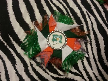 Bottlecap Flower FIFA World Cup Côte d'Ivoire Hair Bow ~ Free Shipping