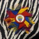 Bottlecap Flower FIFA World Cup Ecuador Hair Bow ~ Free Shipping