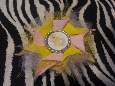 Bottlecap Flower My Little Pony Fluttershy Hair Bow ~ Free Shipping