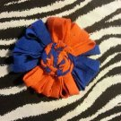 Loopy Flower Orange Blue Hair Bow ~ Free Shipping