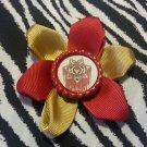 Bottlecap Flower The Walking Dead Bleeding Sherriff Badge Hair Bow ~ Free Shipping