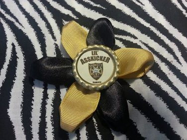 Bottlecap Flower The Walking Dead Lil Asskicker Sherriff Badge Hair Bow ~ Free Shipping