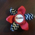 Bottlecap Flower The Walking Dead I Heart Zombies Chervon Hair Bow ~ Free Shipping