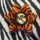 Bottlecap Flower The Walking Dead Daryl Crossbow Fear Animal Print Hair Bow ~ Free Shipping
