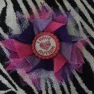 Bottlecap Flower Autism Awareness Pink Purple Hair Bow ~ Free Shipping