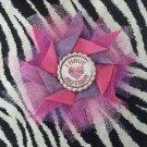 Bottlecap Flower Autism Awareness Pink Light Purple Hair Bow ~ Free Shipping