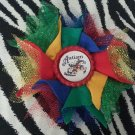 Bottlecap Flower Autism Awareness Butterfly Hair Bow ~ Free Shipping