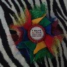 Bottlecap Flower Autism Awareness Super Power Hair Bow ~ Free Shipping