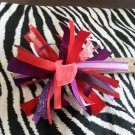 Cheer-riffic Pom Pom Purple Red 4 inch Hair Bow~Free Shipping
