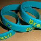 Brazil Country Flag Silicone Rubber Bracelet Sport Unisex Fashion Multi Color Wristband