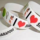 Maria Sharapova Russia Tennis Player Celebrity Silicone Rubber Bracelet Unisex Fashion Wristband
