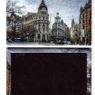 Madrid City Laminated Photo Rectangular Fridge Magnet Souvenir From Spain