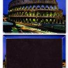 Colosseum In Rome Laminated Photo Rectangular Fridge Magnet Souvenir From Italy