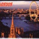 London Laminated Photo Rectangular Fridge Magnet Souvenir From England UK