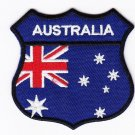 Australia Country Flag Shield Logo Embroidered Iron On Heat Seal Backing Patch 7 X 7 Cm