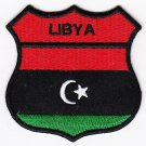 Libya Country Flag Shield Logo Embroidered Iron On Heat Seal Backing Patch 7 X 7 Cm